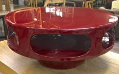 Awesome flying soccer red lacquered coffee table - 956098