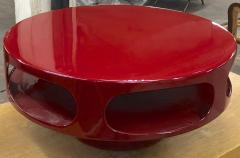 Awesome flying soccer red lacquered coffee table - 956099