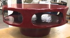 Awesome flying soccer red lacquered coffee table - 956100