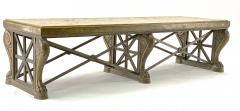 Awesome sturdy and long bronze and marble coffee table - 1511307