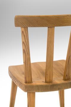 Axel Einar Hjorth Axel Einar Hjorth for Nordiska Kompaniet Pair of Swedish Solid Pine Ut Chairs - 1039458