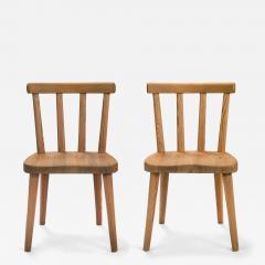 Axel Einar Hjorth Axel Einar Hjorth for Nordiska Kompaniet Pair of Swedish Solid Pine Ut Chairs - 1041410