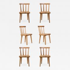 Axel Einar Hjorth Axel Einar Hjorth for Nordiska Kompaniet Pair of Swedish Solid Pine Ut Chairs - 1041411