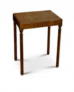 Axel Einar Hjorth Coolidge Side Table in Birch and Marble by A E Hjorth for NK - 524169