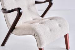 Axel Larsson Axel Larsson Armchair in Boucl and Mahogany Sweden 1940s - 2091176
