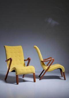 Axel Larsson Axel Larsson Pair of Lounge Chairs Sweden 1940s - 771641