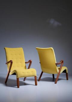 Axel Larsson Axel Larsson Pair of Lounge Chairs Sweden 1940s - 771642