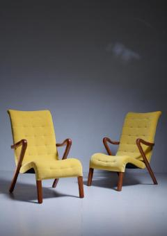Axel Larsson Axel Larsson Pair of Lounge Chairs Sweden 1940s - 771643