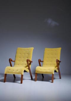 Axel Larsson Axel Larsson Pair of Lounge Chairs Sweden 1940s - 771644