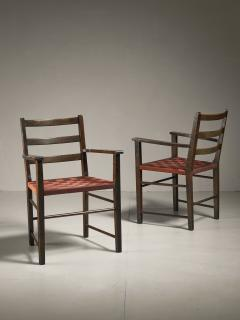 Axel Larsson Axel Larsson Pair of Webbed Armchairs for Gemla Sweden 1930s - 218383