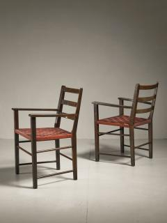 Axel Larsson Axel Larsson Pair of Webbed Armchairs for Gemla Sweden 1930s - 218384