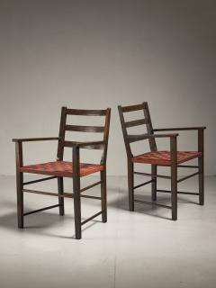 Axel Larsson Axel Larsson Pair of Webbed Armchairs for Gemla Sweden 1930s - 218385