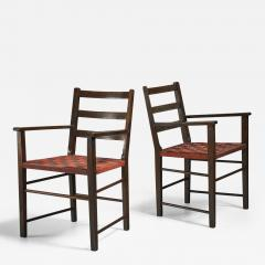 Axel Larsson Axel Larsson Pair of Webbed Armchairs for Gemla Sweden 1930s - 219152