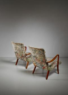 Axel Larsson Pair of Axel Larsson Lounge Chairs Bodafors Sweden 1940s - 879261