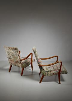Axel Larsson Pair of Axel Larsson Lounge Chairs Bodafors Sweden 1940s - 879262
