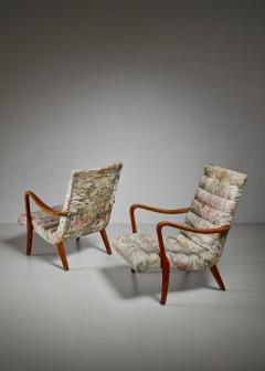 Axel Larsson Pair of Axel Larsson Lounge Chairs Bodafors Sweden 1940s - 879264