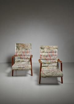 Axel Larsson Pair of Axel Larsson Lounge Chairs Bodafors Sweden 1940s - 879265