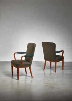 Axel Larsson Pair of Axel Larsson armchairs Sweden 1940s - 923969
