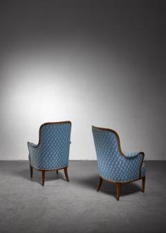 Axel Larsson Pair of Swedish Modern armchairs - 1257893