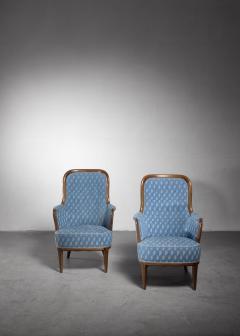 Axel Larsson Pair of Swedish Modern armchairs - 1257895