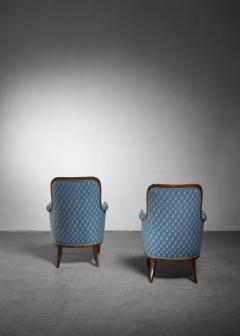 Axel Larsson Pair of Swedish Modern armchairs - 1257896
