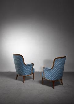 Axel Larsson Pair of Swedish Modern armchairs - 1257897
