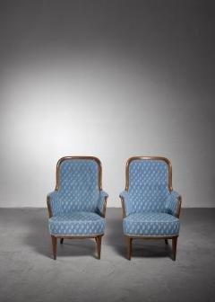 Axel Larsson Pair of Swedish Modern armchairs - 1257898