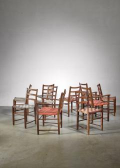 Axel Larsson Set of 10 dining chairs by Gemla Di Sweden - 1001362