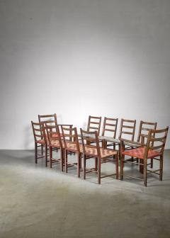 Axel Larsson Set of 10 dining chairs by Gemla Di Sweden - 1001363