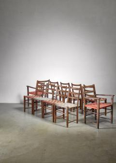 Axel Larsson Set of 10 dining chairs by Gemla Di Sweden - 1001367