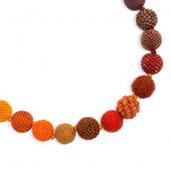 Axel Russmeyer Axel Russmeyer Glass and Crystal Beaded Ball Necklace in Autumnal Colors - 1583830