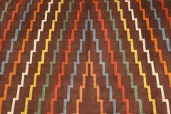 Aztec Design Geometrical Wool Rug circa 1940s - 999478