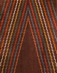 Aztec Design Geometrical Wool Rug circa 1940s - 999481