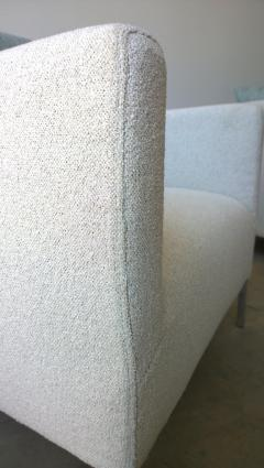 B B Italia Signed Pr B B Italia Arm Lounge Chairs w Chrome Legs New Boucle Upholstery - 1028153