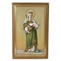 B Imhoff St Radegundis Oil on Canvas Signed B Imhoff 1906 - 143945