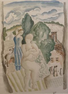 B la K d r Jeune femme a lentree du village - 1937075