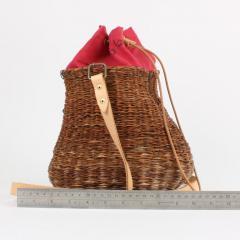 B n dicte Magnin Robert Bespoke Leather and Willow Bark Crossbody Bag Le D bonnaire - 1681639