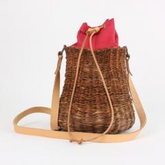 B n dicte Magnin Robert Bespoke Leather and Willow Bark Crossbody Bag Le D bonnaire - 1681641