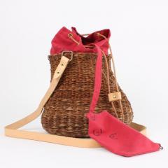 B n dicte Magnin Robert Bespoke Leather and Willow Bark Crossbody Bag Le D bonnaire - 1681669