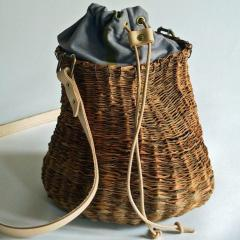B n dicte Magnin Robert Bespoke Leather and Willow Bark Crossbody Bag Le D bonnaire - 1681674