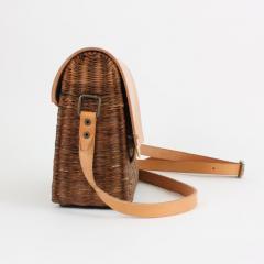 B n dicte Magnin Robert Bespoke Leather and Willow Bark Crossbody Bag Le D vou  - 1681646