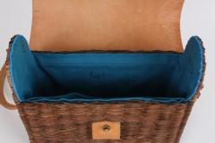 B n dicte Magnin Robert Bespoke Leather and Willow Bark Crossbody Bag Le D vou  - 1681648