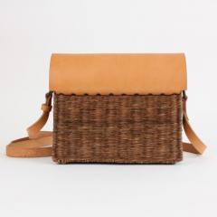 B n dicte Magnin Robert Bespoke Leather and Willow Bark Crossbody Bag Le D vou  - 1681651