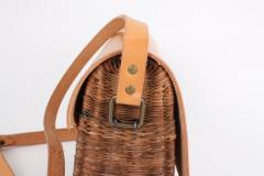 B n dicte Magnin Robert Bespoke Leather and Willow Bark Crossbody Bag Le D vou  - 1681676