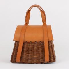 B n dicte Magnin Robert Bespoke Leather and Willow Bark Handbag Le Pr cieux - 1681632