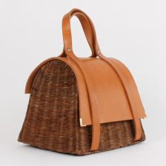 B n dicte Magnin Robert Bespoke Leather and Willow Bark Handbag Le Pr cieux - 1681635