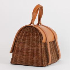 B n dicte Magnin Robert Bespoke Leather and Willow Bark Handbag Le Pr cieux - 1681667
