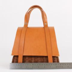 B n dicte Magnin Robert Bespoke Leather and Willow Bark Handbag Le Pr cieux - 1681670