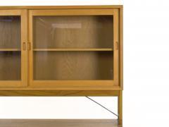 B rge Mogensen B rge Mogensen Danish Mid Century Modern Oak Bookcase Cabinet over Dresser - 1119265