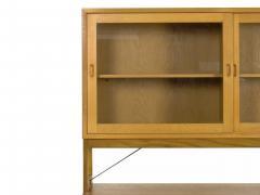 B rge Mogensen B rge Mogensen Danish Mid Century Modern Oak Bookcase Cabinet over Dresser - 1119266